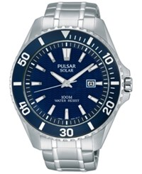 Pulsar Men's Solar Sport Stainless Steel Bracelet Watch 44Mm Px3067 No Color