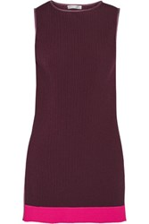 Barbara Casasola Pleated Crepe De Chine Tunic Merlot