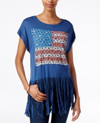 American Rag Fringe Flag Graphic T Shirt Only At Macy's Blue