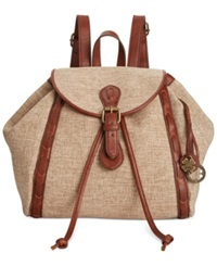 Lucky Brand Kendal Linen Medium Backpack Natural Solid