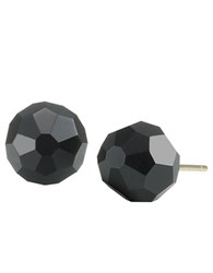 Carolee Jet Crystal Earrings Black