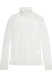 Altuzarra Cristal Chantilly Lace Turtleneck Blouse