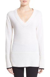 Rag And Bone Women's Rag And Bone 'Flavia' V Neck Cashmere Sweater Ivory