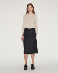 Sofie D'hoore Signal Cotton Twill Skirt Navy
