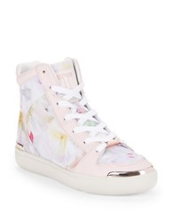 Ted Baker Paryna Floral High Top Sneakers White Multi