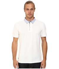 7 Diamonds Center Stage Polo White Men's Short Sleeve Pullover