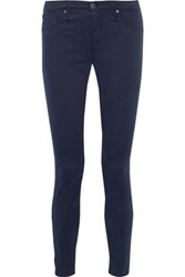 Ag Jeans Brushed Cotton Blend Skinny Pants Storm Blue