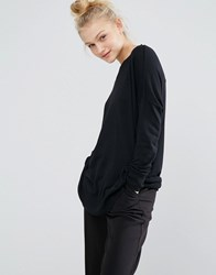 Monki Oversized Fine Knit Jumper Black