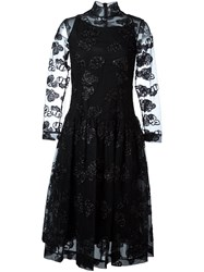 Simone Rocha Semi Sheer Overlay Dress Black
