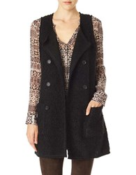 Sanctuary Textured City Vest Black