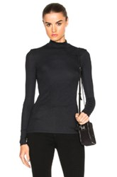 Atm Anthony Thomas Melillo Mock Neck Tee In Black