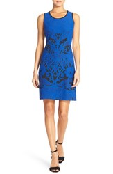 Women's Julia Jordan Jacquard Fit And Flare Dress