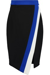 Milly Color Block Jersey Skirt Black