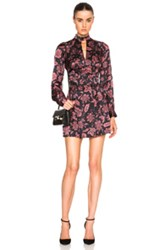 Lover Gypsy Mini Dress In Red Floral Black Red Floral Black