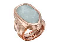 Vince Camuto Chunky Bold Ring Burnt Rose Gold Blue Ring