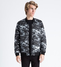 A Question Of White Black Marble Reversible Marbleous Bomber Jacket