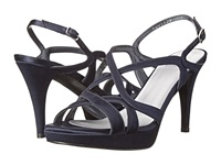 Stuart Weitzman Bridal And Evening Collection Axis Navy Satin High Heels