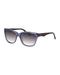 Thierry Mugler Studded Two Tone Plastic Sunglasses Blue Black