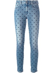 Stella Mccartney Embroidered Jeans Blue
