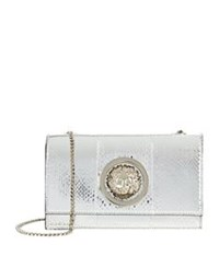 Versus By Versace Flap Chain Shoulder Bag Silver
