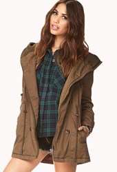 Forever 21 Snow Bunny Hooded Utility Jacket