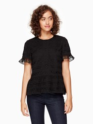 Kate Spade Mixed Lace Top Black