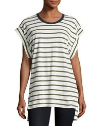 The Fifth Label On Your Mark Striped Tee Olive