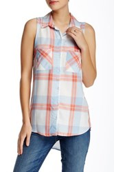 Stoosh Sleeveless Plaid Shirt Multi