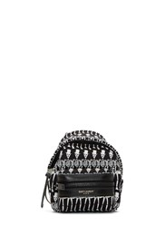 Saint Laurent Mini Skeleton Print Backpack Keyring Black