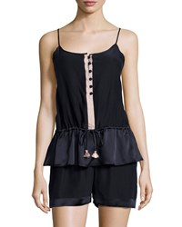 Carolina Herrera Cami And Short Set Navy Creme