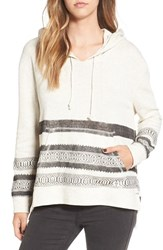 Billabong Women's 'Nothing Compares' Print Hoodie Iced Athletic Grey