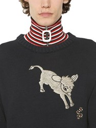 J.W.Anderson Zip Up Wool Knit Collar