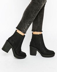 Asos Ethel Chunky Chelsea Ankle Boots Black