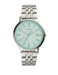 Fossil Vintage Muse Green Crystal Stainless Steel Watch Es3956 Silver