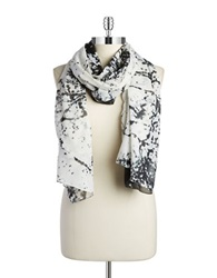 William Rast Splatter Scarf Black