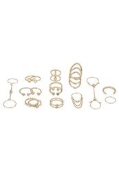 New Look Skinny Connected Set Ring Gold