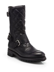 Ralph Lauren Grover Quilted Leather Moto Boots