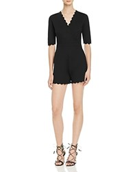 French Connection Beau Scallop Romper Black