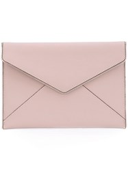 Rebecca Minkoff Zipper Envelope Clutch Bag Pink Purple