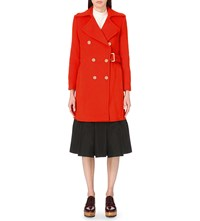 Moandco. Military Wool Blend Coat Flamenco Red