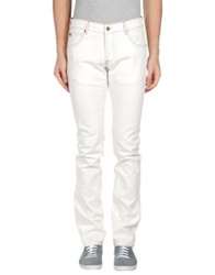 Maison Clochard Denim Pants White