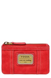 Women's Fossil 'Emory' Zip Coin Pouch Red Tomato