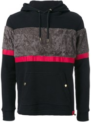 Education From Youngmachines Textured Stripe Hoodie Black