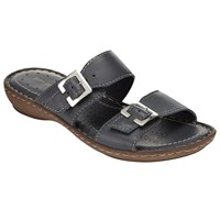 John Lewis Two Strap Sandals Navy