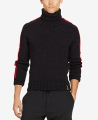 Polo Ralph Lauren Men's Merino Wool Turtleneck Sweater Black