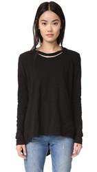 Wilt Raw Double Neck Pullover Basic Black