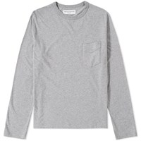 Officine Generale Long Sleeve Pocket Tee Grey