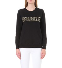 Markus Lupfer Anna Sparkle Cotton Jumper Black