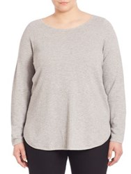 Eileen Fisher Organic Cotton And Cashmere Sweater Dark Pearl