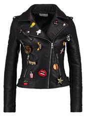 Glamorous Faux Leather Jacket Black